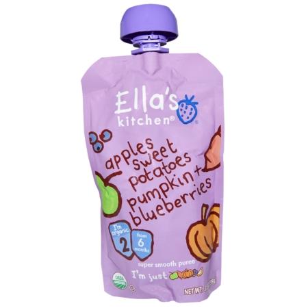 Sweet Potato, Pumpkin, Blueberry, Apple, Ella's Kitchen