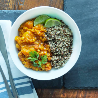 Sweet Potato, Squash and Lentil Curry
