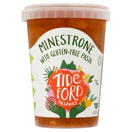 TIDEFORD ORG MINESTRONE SOUP & PASTA 6X600G
