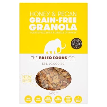 The Paleo Foods Honey And Pecan Grain-Free Granola 340G
