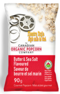 Butter & Sea Salt Popcorn, Canadian Organic Popcorn