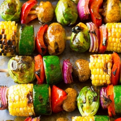 Grilled Fajita Vegetable Skewers