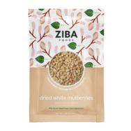 Dried White Mulberries, Ziba Foods 150g