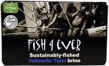 Yellowfin Tuna in Brine, Fish 4 Ever