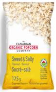 Sweet & Salty Popcorn, Canadian Organic Popcorn,