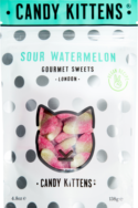 Sharing Bag Sour Watermelon, Candy Kittens 130g