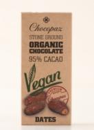 CHOCOPAZ VEGAN CHOCOLATE 95% CHOCOLATE WITH DATES