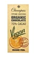 CHOCOPAZ VEGAN 70% CHOCOLATE ORANGE PEEL