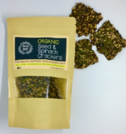 Organic Seed & Spinach Crackers, Chilly Date