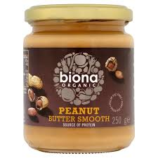 Organic Smooth Peanut Butter, Biona