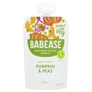 BABEASE ORGANIC PUMPKIN & PEAS 100G