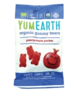 YUM EARTH ORGANIC GUMMY BEARS POMEGRANATE 50G