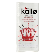 Rice Cakes Thin Slice Unsalted, Kallo
