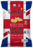 LUKES ORG KETTLE STYLE CHIPS SALT AND VINEGAR 113G