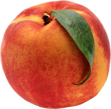 peach ripe organic