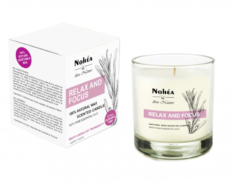Relax And Focus- Natural Wax Scented Candle , Nohea