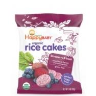 Munchies Blueberry Beet Rice Cakes, Happy Baby