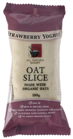 Oat Slice - Strawberry and Yogurt  - All Natural Bakery