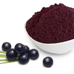 sunfood acai powder bowl with berries ripe organic