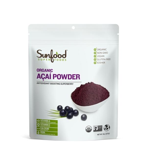 sunfood acai powder ripe organic