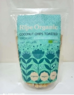 RIPE ORGANIC COCONUT CHIPS TOASTED 200G